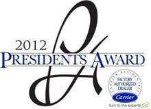 Carrier President Award Winner